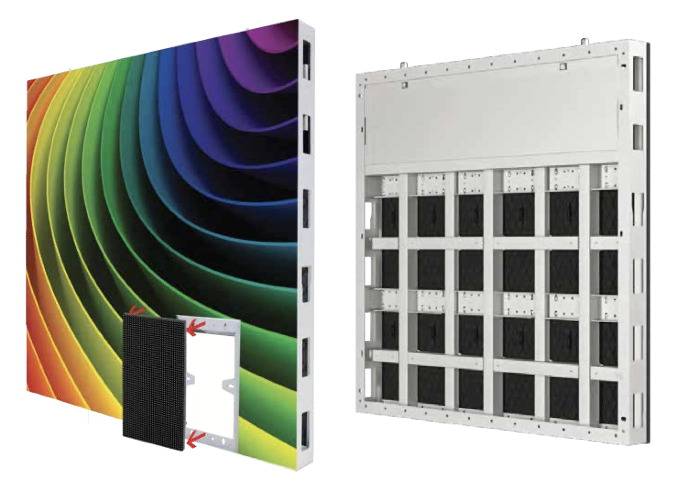 SparkLED Aluminum Thin LED Digital Screen Cabinet Multi Pitch
