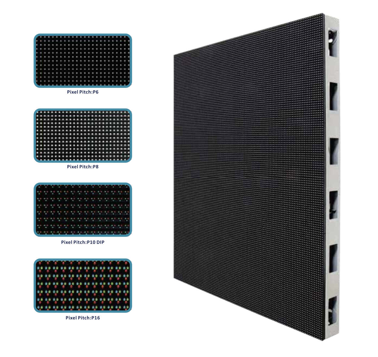 SparkLED Product Aluminum Thin LED Digital Screen Cabinet Multi Pitch